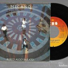 Discos de vinilo: SINGLE. MECANO. BUSCA ALGO BARATO / AIRE. 1984. CBS. Lote 176624224