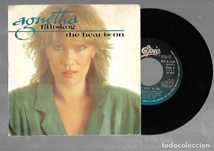 SINGLE. AGNETHA. FÄLTSKOG / THE HEAT IS ON. 1983. DISCOS CBS (Música - Discos - Singles Vinilo - Grupos Españoles de los 90 a la actualidad)