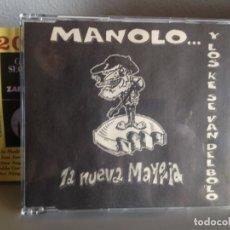 Discos de vinilo: MANOLO... Y LOS QUE SE VAN DEL BOLO - LA NUEVA MAYORIA. RARE CD SINGLE PROMOZIONAL 1997. NM-NM. Lote 176624930