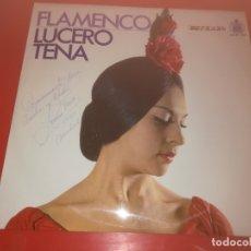 Discos de vinilo: LUCERO TENA LP DE 1972 FIRMADO Y DEDICADO POR LA CANTANTE. Lote 189108046