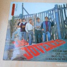 Discos de vinilo: LOS JOVENES, EP, ADIOS, MI AMOR + 3, AÑO 1965. Lote 176628238