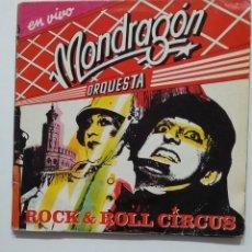 Discos de vinilo: ORQUESTA MONDRAGÓN. - ROCK & ROLL CIRCUS. EN DIRECTO. DOBLE LP. TDKLP. Lote 176633623