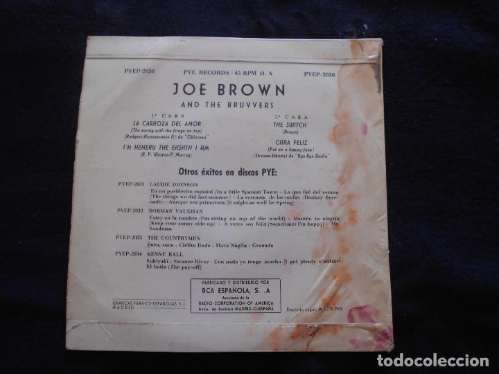 Discos de vinilo: JOE BROWN AND THE BRUVVERS // LA CARROZA DEL AMOR + 3 - Foto 2 - 176644539