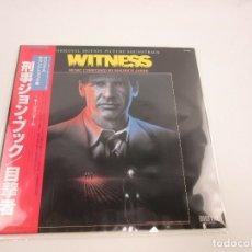 Discos de vinilo: EDICIÓN JAPONESA DE BSO DE UNICO TESTIGO - WITNESS OST ( HARRISON FORD) MUSIC BY MAURICE JARRE. Lote 176647927