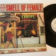 Discos de vinilo: DISCO MINI LP VINILO THE CRAMPS SMELL OF FEMALE EDICION INGLESA DE 1983. Lote 176648227