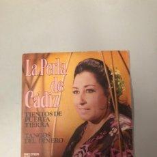 Discos de vinilo: LA PERLA DE CÁDIZ. Lote 176648407