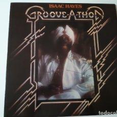 Discos de vinilo: ISAAC HAYES - GROOVE A THON - SPAIN LP 1976 - COMO NUEVO.. Lote 176671765