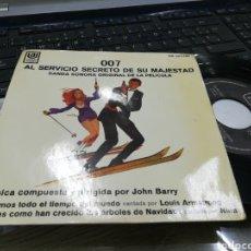 Discos de vinilo: 007 AL SERVICIO SECRETO DE SU MAJESTAD EP B.S.O..ESPAÑA 1969. Lote 176683187