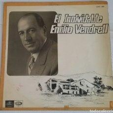 Discos de vinilo: EL INOLVIDABLE EMILIO VENDRELL, 1966, ODEON BARCELONA. LSX 3.307. Lote 176692797