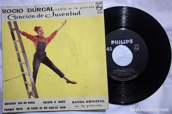 ROCÍO DÚRCAL - CANCIÓN DE JUVENTUD DEL AÑO 1962 MEXICO (BANDA SONORA RARA) (Música - Discos de Vinilo - EPs - Flamenco, Canción española y Cuplé)
