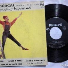 Discos de vinilo: ROCÍO DÚRCAL - CANCIÓN DE JUVENTUD DEL AÑO 1962 MEXICO (BANDA SONORA RARA). Lote 176702474