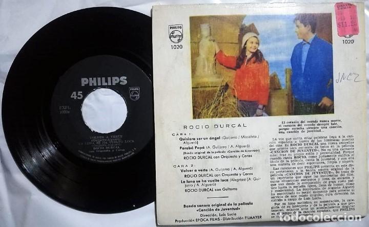 Discos de vinilo: Rocío Dúrcal - Canción de Juventud del año 1962 Mexico (banda sonora rara) - Foto 2 - 176702474