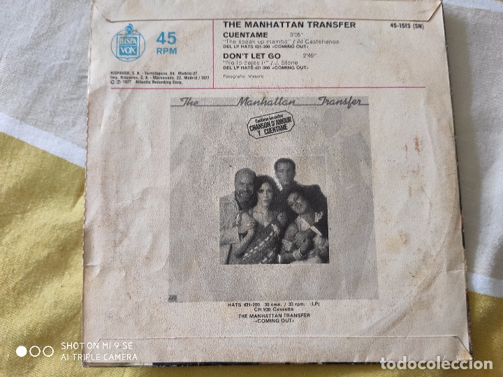 Discos de vinilo: The Manhattan Transfer.Cuentame.AÑO 77 - Foto 2 - 176706762