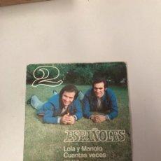 Discos de vinilo: LOS 2 ESPAÑOLES. Lote 176722400