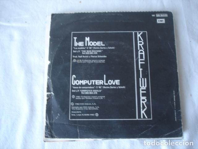 Discos de vinilo: Kraftwerk Las Modelos - Foto 2 - 176722673