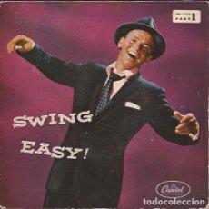 Discos de vinilo: EP FRANK SINATRA SWING EASY CAPITOL 528 SPAIN SOLO PORTADA JAZZ. Lote 176725553