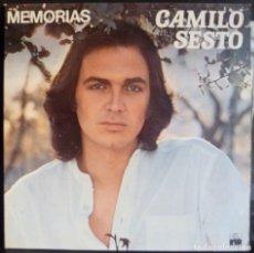Discos de vinilo: CAMILO SESTO //MEMORIAS// 1976//PORTADA DOBLE//(VG VG). LP. Lote 176729273
