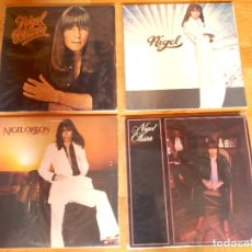 Discos de vinilo: NIGEL OLSSON ELTON JOHN LOTE 4 LPS 1975 NIGEL OLSSON - 1978 NIGEL - 1979 NIGEL - 1980 CHANGING TIDES. Lote 176741549