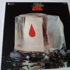 Discos de vinilo: LIDIA & PENSE- COLD BLOOD - SPAIN LP 1976 - COMO NUEVO.. Lote 176744799