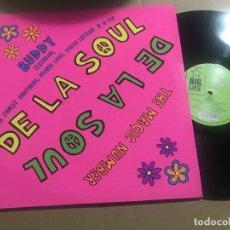 Discos de vinilo: DE LA SOUL - BUDDY / THE MAGIC NUMBER - MAXI UK BIG LIFE 89 - HIP HOP. Lote 228055240