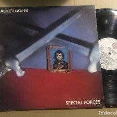 Discos de vinilo: ALICE COOPER - SPECIAL FORCES LP WARNER 81 SPAIN HARD ROCK HEAVY METAL. Lote 176744975