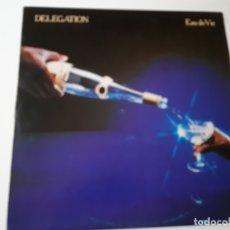 Discos de vinilo: DELEGATION- EAU DE VIE - SPAIN LP 1980 - VINILO COMO NUEVO.. Lote 176745760