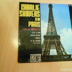 Discos de vinilo: CHARLIE SHAVERS Y SU ORQUESTA EN PARÍS, EP, C´EST SI BON + 3, AÑO 1962. Lote 176755638
