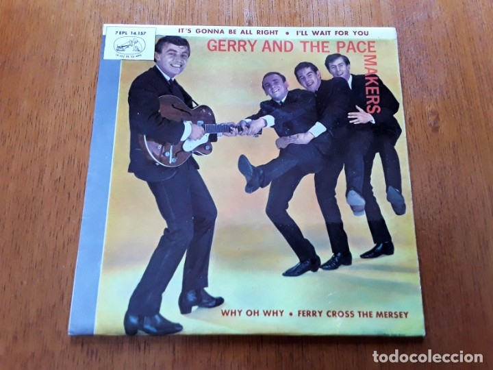 GERRY AND THE PACEMAKERS 1965 MERSEBEAT ORIGINAL EP ESPAÑOL (Música - Discos de Vinilo - EPs - Pop - Rock Extranjero de los 50 y 60	)
