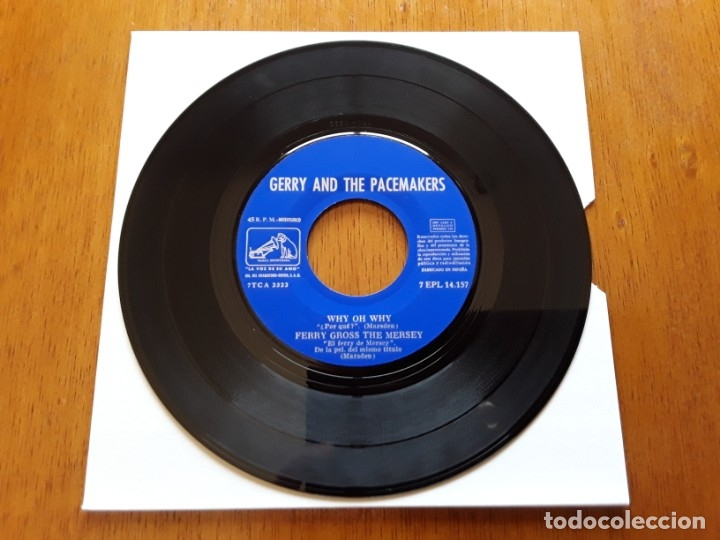 Discos de vinilo: GERRY AND THE PACEMAKERS 1965 MERSEBEAT ORIGINAL EP ESPAÑOL - Foto 4 - 176768490
