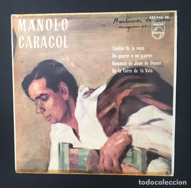 MANOLO CARACOL - TIENTOS DE LA ROSA (Música - Discos de Vinilo - EPs - Flamenco, Canción española y Cuplé)