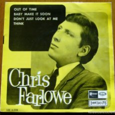 Discos de vinil: CHRIS FARLOWE 1966 EP ORIGINAL ESPAÑOL. Lote 176773327