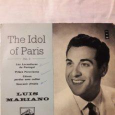 Disques de vinyle: SINGLE DISCO DE LUIS MARIANO LOTE. Lote 176783835