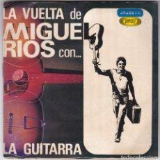 Discos de vinilo: 2 SINGLES - LA VUELTA DE MIGUEL RIOS - LA GUITARRA - AHORA QUE HE VUELTO - 1966. Lote 176803288