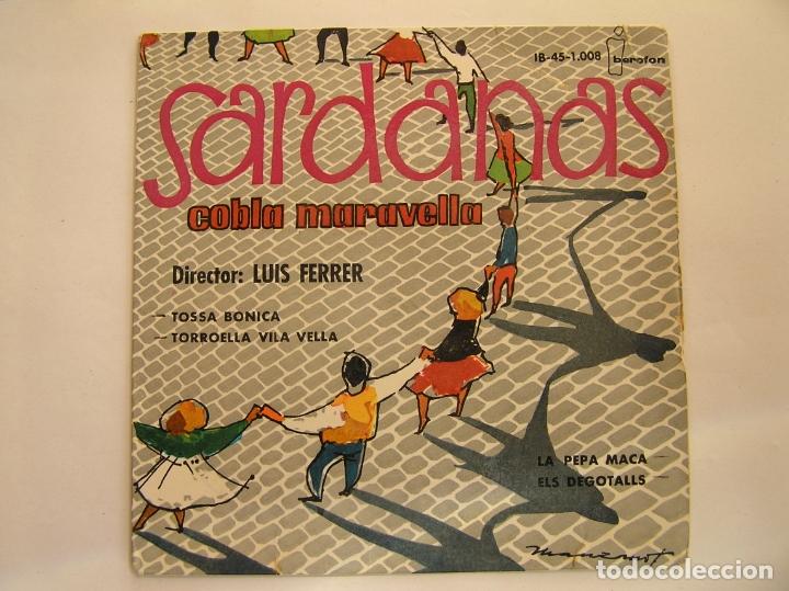 SARDANAS - COBLA MALAVELLA - IBEROFON 1960 - SINGLE - PL (Música - Discos de Vinilo - Maxi Singles - Étnicas y Músicas del Mundo)