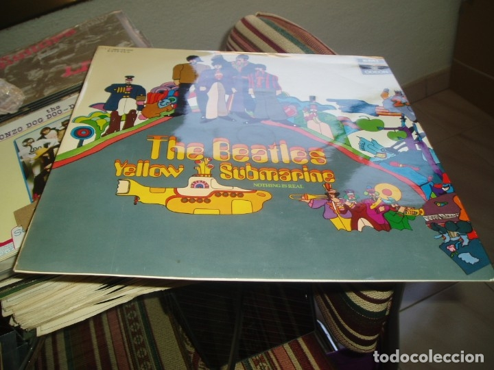 Discos de vinilo: THE BEATLES LP Yellow Submarine spanish early pressing Red Label ODEON SPAIN EX+ - Foto 2 - 176815959
