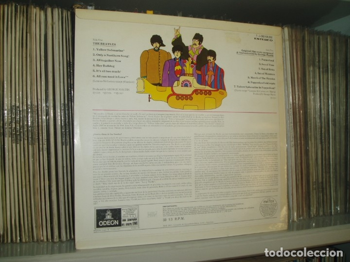 Discos de vinilo: THE BEATLES LP Yellow Submarine spanish early pressing Red Label ODEON SPAIN EX+ - Foto 3 - 176815959