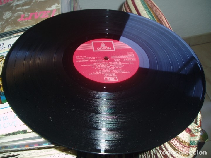 Discos de vinilo: THE BEATLES LP Yellow Submarine spanish early pressing Red Label ODEON SPAIN EX+ - Foto 5 - 176815959