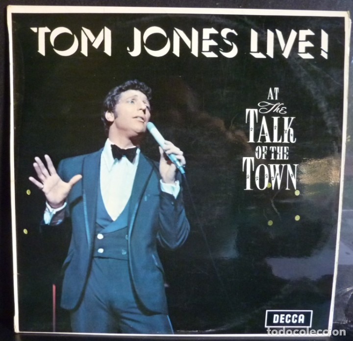 TOM JONES //AT THE TALK OF THE TOWN //1967//VG+VG+) MADE IN ENGLAND. LP (Música - Discos - LP Vinilo - Cantautores Extranjeros)
