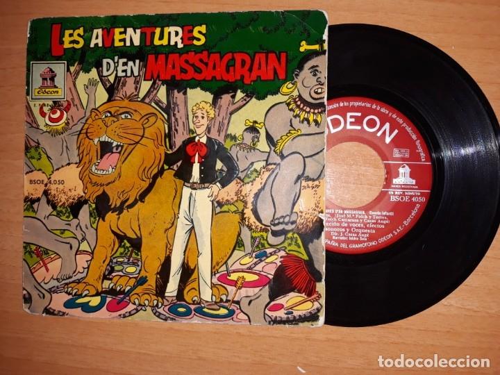 LES AVENTURES D,EN MASSAGRAN. (Música - Discos de Vinilo - EPs - Música Infantil)