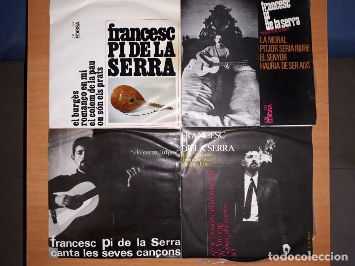 FRANCESC PI DE LA SERRA.LOTE 4 EPS. (Música - Discos de Vinilo - EPs - Solistas Españoles de los 50 y 60)