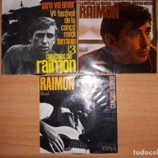 Discos de vinilo: RAIMON .LOTE 3 EPS AÑOS 60.. Lote 176842830