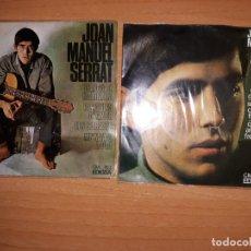 Discos de vinilo: JOAN MANUEL SERRAT .LOTE 2 EPS AÑOS 60.. Lote 176843148