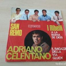 Discos de vinilo: DISCO VINILO MAXI SINGLE ADRIANO CELENTANO SAN REMO. Lote 176846827