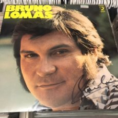 Discos de vinilo: BRUNO LOMAS LP DISCO DE VINILO ORIGINAL FIRMADO POR EL CANTANTE DISCOPHON. Lote 176847349