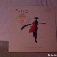 Discos de vinilo: MATADOR.- TOM JONES, MIKE LEANDER & EDWARD SEAGO LP UK 1987 PORTADA DOBLE VER + FOTO. Lote 176852298