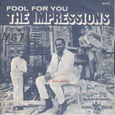 Discos de vinilo: THE IMPRESSIONS - FOOL FOR YOU - SINGLE ESPAÑOL DE VINILO #. Lote 176857517