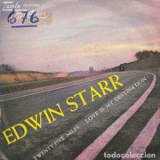 Discos de vinilo: EDWIN STARR - TWENTY FIVE MILES - SINGLE ESPAÑOL DE VINILO TAMLA MOTOWN - 5059 #. Lote 176857879