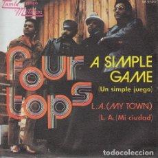 Discos de vinilo: THE FOUR TOPS - A SIMPLE GAME - SINGLE ESPAÑOL DE VINILO TAMLA MOTOWN - 5120 #. Lote 176857989