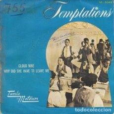 Discos de vinilo: THE TEMPTATIONS - CLOUD NINE - SINGLE ESPAÑOL DE VINILO TAMLA MOTOWN - 5049 #. Lote 176858168