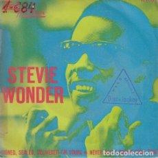 Discos de vinilo: STEVIE WONDER - SIGNED SEALED DELIVERED I'M YOURS - SINGLE ESPAÑOL DE VINILO TAMLA MOTOWN - 5084 #. Lote 176858575